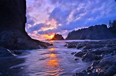 Rialto Beach in Olympic National Park, WA .-Amazing World Beautiful Places To Visit, Beautiful World, Places To Travel, Places To See, Places Around The World, Around The Worlds, El Yunque National Forest, Rialto Beach, Forest And Wildlife