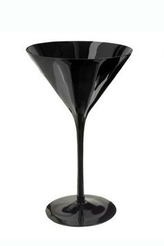 Outfit Your Home Bar In Style - Target martini glasses in midnight black (set of 6), $34.99, available at Target