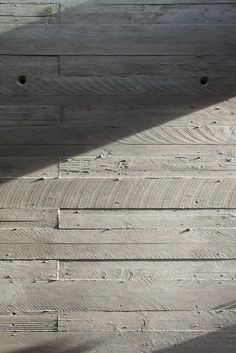 Concrete form work - Timber imprint