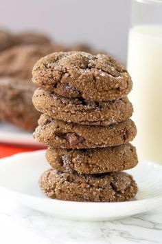 Chewy Chocolate Gingerbread Cookies recipe - by RecipeGirl.com