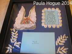Quilled Angel with a message, made by Paula Hogue