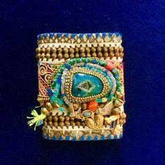De Petra collectible leather bracelets is wearing art #depetra #artinjewelry #leatherbracelet #fineleather #handmade