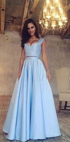 two piece prom dress, 2017 prom dress, long prom dress, evening dress formal dress