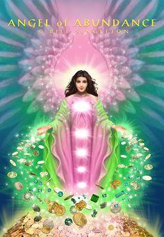 Bill Singleton: Angel of Abundance Tarot, Seven Archangels, Tantra Art, Gift From Heaven, Doreen Virtue, Character Sketches, Angel Art, Ethereal, Abundance