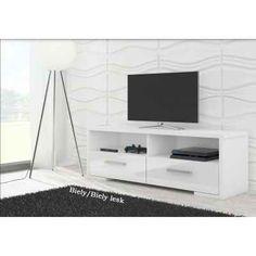 Ebern Designs This is excellent TV stand. 50 Tv Stand, Tv Bracket, Media Storage, Girl Bedroom Designs, Modern Design, Type Design, Wood Cabinets, Adjustable Shelving, Types Of Wood