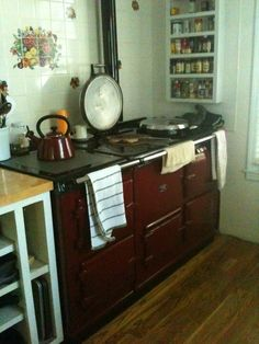 #photoadayMAY - kitchen: one day I intend on having an Aga.  This is the Aga at my Aunty Heather's house.  I love it, I covet it.