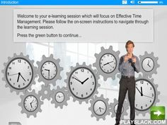 Time Management E-Learning  Android App - playslack.com , Time Management: This e-learning course focuses on what makes effective time management and offers some strategies and advice to increasing efficiency at work.The e-learning is a cut down version of the full course which is available to purchasers of the Pro version of the App and those who register online via the Internet.e-Learning WMB can in addition customise this app or create a new app/e-learning course for you to meet your…