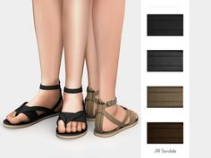 JW Sandals by mauvemorn at TSR • Sims 4 Updates