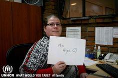 Sin pensarlo, Magally llevaría a sus hijos si tuviera que huir.    - Visit 1family: http://www.unhcr.org/1family