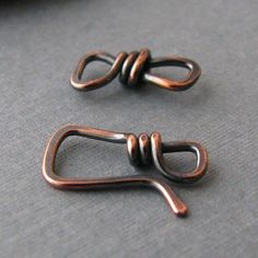 Handmade Rustic Copper Square Clasp - Artisan Jewelry Findings by Rocki Adams