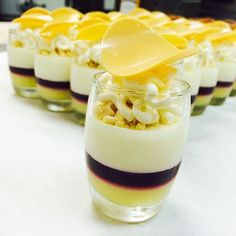 Lime, Blueberry and White Chocolate Verrines by Antonio Bachour...