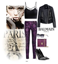 """""""Flirting with Edgy..."""" by briannaandrews500 ❤ liked on Polyvore featuring Balmain, Tom Ford and Roberto Cavalli"""