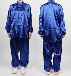 TaiChi Uniform Wushu Blue KungFu uniforms Chinese Kung Fu China Tai chi Chuan