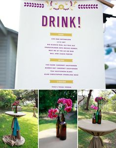 beer garden wedding