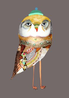 by Ashley Percival  Kids Wall Art. The Night Owl. Limited edition art print wall Art.. $40.00, via Etsy.