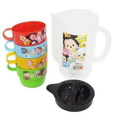 DISNEY TSUM TSUM and Zamzam and excursion products • case with stacking cups 4 P set / Disney ☆ skater (pitcher + Cup 4) picnic equipment / anime shopping ☆ cinema collection ◆