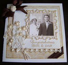 Mum and Dad's Golden Wedding Anniversary Card/Box by: snoflake