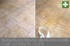 I was asked to clean the Limestone tiled floor of a very old house in the Village of Radcot which is close to the River Thames and dates to the 14th Century. Being close to a river is very scenic but can be problematic and I was told the house had experienced flooding in recent years.