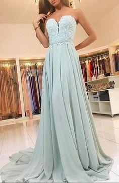 Glamorous A-Line Prom Dress, Sweetheart Long Prom Dresses,Evening