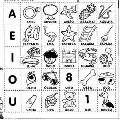 ATIVIDADES ESCOLARES ONLINE: Atividades de Alfabetização - Trabalho com as Vogais e Encontros vocálicos