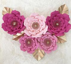 Gran decoración de vivero de telón de fondo de flores de papel