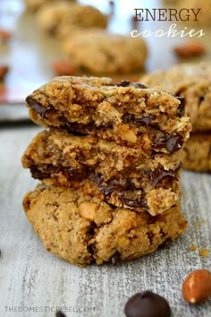 These Energy Cookies are fabulous! Chock full of peanut butter, oats, almonds…