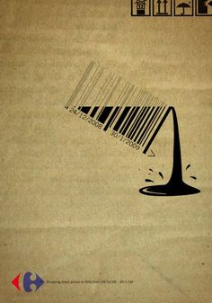 Carrefour bar code ad by Strategies, Cairo www.strategies.com.eg #graphic_design #advertising
