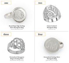 MONOGRAM MONDAY: PERSONALIZED RINGS #monogrammonday #monogram #rings