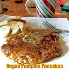 #vegan #pumpkin pancake #recipe