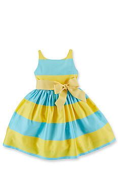 Ralph Lauren Childrenswear Striped Sateen Dress Toddler Girls