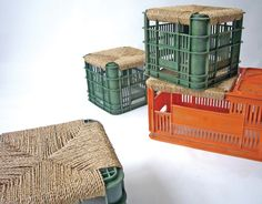 Turn a Plastic Crate into a Woven Stool