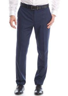 MICHAEL Michael Kors Blue Modern-Fit Stretch Dress Pants