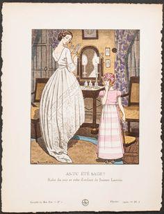 As-Tu Ete Sage? - Robe du soir et robe d'enfant de Jeanne Lanvin/  Gazette du Bon Ton, 1920