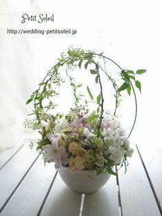 ウェディングテーブルフラワー ゲストテーブル装花 wedding table flower