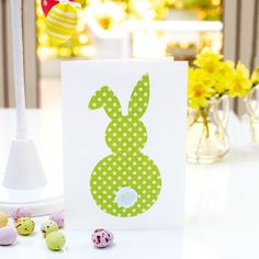 This rear-view design is the cutest Easter bunny card to make – and one that the kids will definitely want to help out with