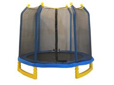 Upper Bounce Indoor/Outdoor Classic Trampoline and Enclosure Set (7-Feet) by Upper Bounce. $216.21. Bring fun together with health and fitness to your home and family with this Complete High Quality Upper Bounce 7' Trampoline & Safety Enclosure Set! This trampoline is both durable and padded to provide hours of safe, active fun for your little bouncers. The frame is made of high-quality steel and durable, blow-molded plastic to ensure safety. Round zippered entranc...