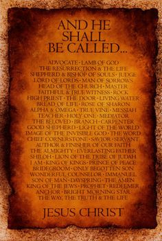 Great Poster - The Biblical Names of God!