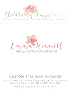 Custom Branding Package  Makeup Artist  Custom by BellberryLane