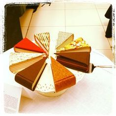 Book Cake Slices - I want to try one sometime in my life!!! Too cool!
