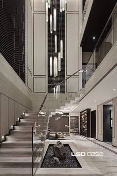 Perfect Living Room Staircase Design Ideas is part of Staircase design - In planning the interior of your home, everything even to the littlest detail should be carefully plotted out The color […] Home Stairs Design, Home Room Design, Dream Home Design, Modern House Design, Home Interior Design, Interior Architecture, Luxury Modern House, Interior Designing, Dream House Interior