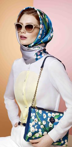 The print is simple but effective Hijab Style, Turban Style, Ways To Wear A Scarf, How To Wear Scarves, Hijab Fashion, Fashion Outfits, Womens Fashion, Fashion Fashion, Look 2017