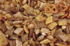 Classic Chex Mix. I added more of the seasoning and also added Bulges! Always yummy and easy.