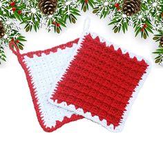 Presine natalizie in puro cotone lavorate a mano ad uncinetto