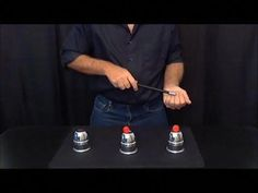 Cups and Balls Magic Trick Revealed Magic Secrets Revealed, Magic Tricks Tutorial, Magic Tricks Illusions, Learn Magic, Sleight Of Hand, Magic Show, Card Tricks, Youtube, Cups