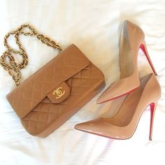 chanel and louboutin - classic combo. #perfectpairings #shoeporn #bagporn