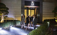 Well heeled: Kim Kardashian leaves YUAN, the signature Chinese restaurant, bar and lounge at Atlantis, The Palm in Dubai