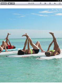 board + yoga + carribean sea + aruba = awesome!!