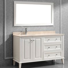 Bauhaus Bath Milly 55 in. Single Bathroom Vanity Set with Mirror - MILLY55