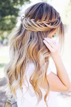 Simple Yet Gorgeous Waterfall Braid � A headband braid, also known as a crown or a halo braid, is a cute half updo or updo hairstyle with a braid around a head. And as for the type of a braid involved, any braid would do here. Make a choice based on your taste. � Check out the gallery! #braids #easybraids #halobraid