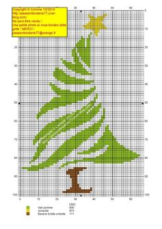 Bright Green with Star on Top Christmas Charts, Cross Stitch Christmas Ornaments, Christmas Embroidery, Christmas Cross, Cross Stitch Tree, Mini Cross Stitch, Cross Stitch Needles, Cross Stitch Designs, Cross Stitch Patterns